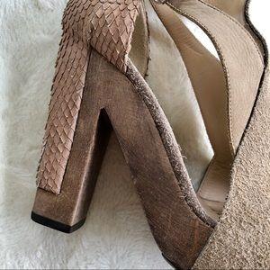 3.1 Phillip Lim Shoes - 3.1 Phillip Lim tan nubuck suede leather heels 36